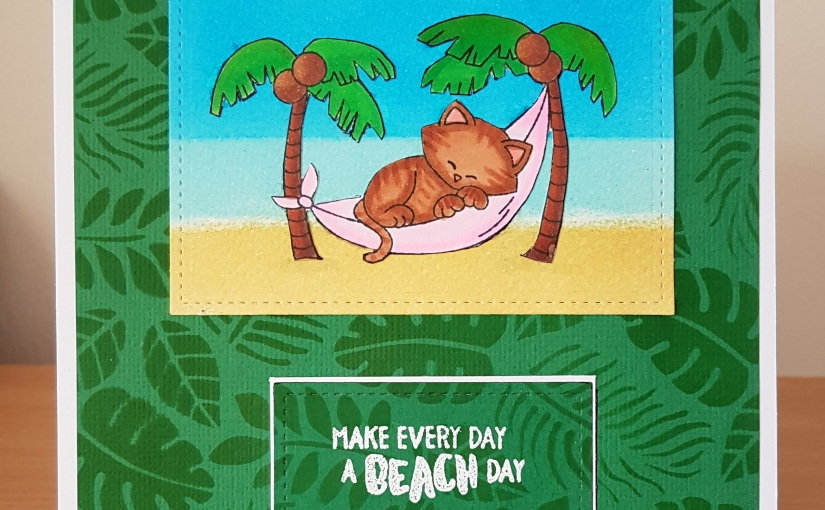 Beachy card on a chilly autumn day
